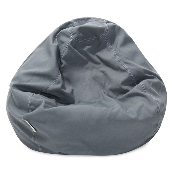 Gray Solid Small Classic Bean Bag