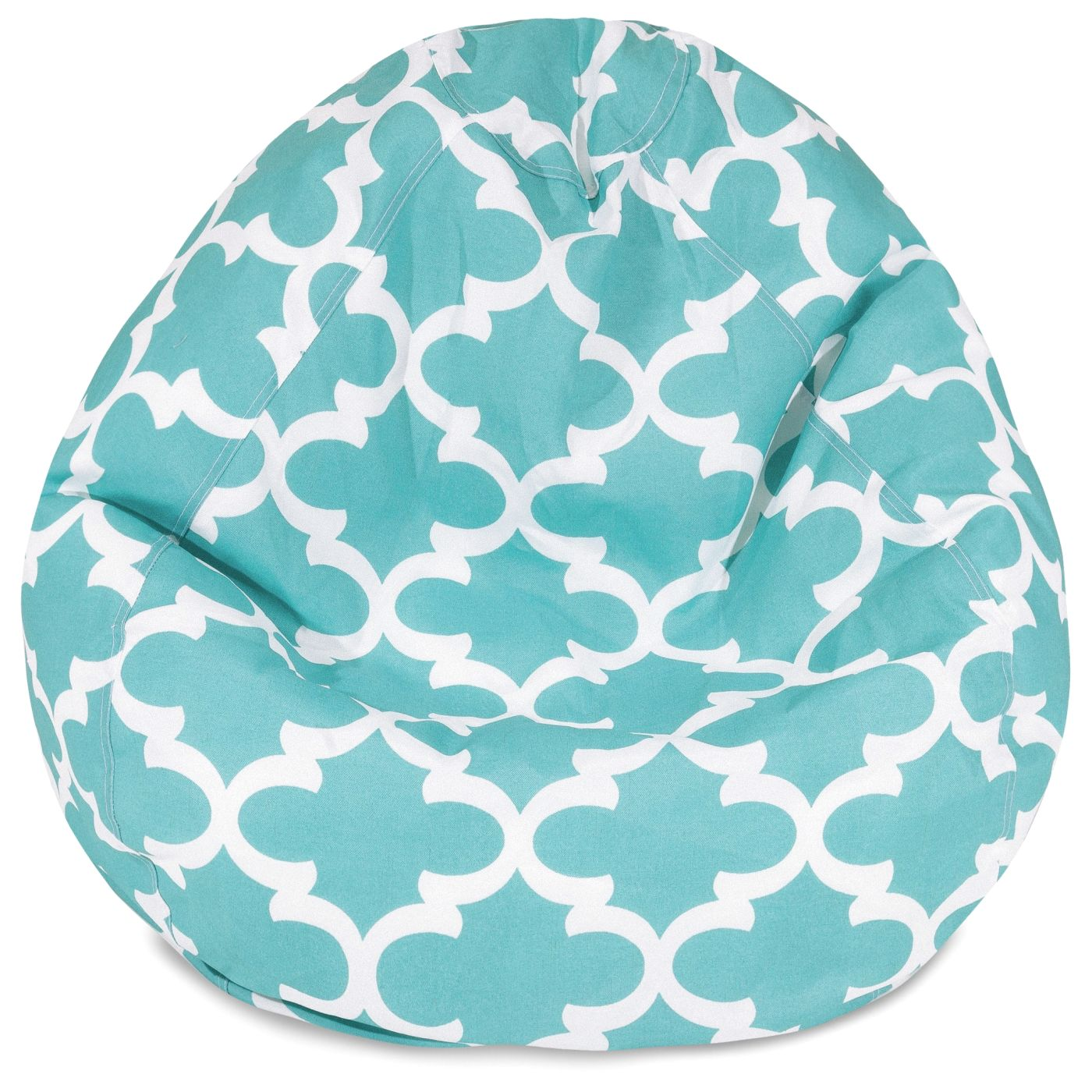 amazing deal on majestic home 85907224091 teal trellis small classic bean bag at contemporary. Black Bedroom Furniture Sets. Home Design Ideas