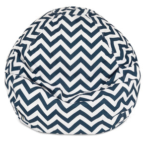 Navy Chevron Small Classic Bean Bag