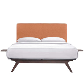 Tracy 3 Piece Full Bedroom Set Cappuccino Orange