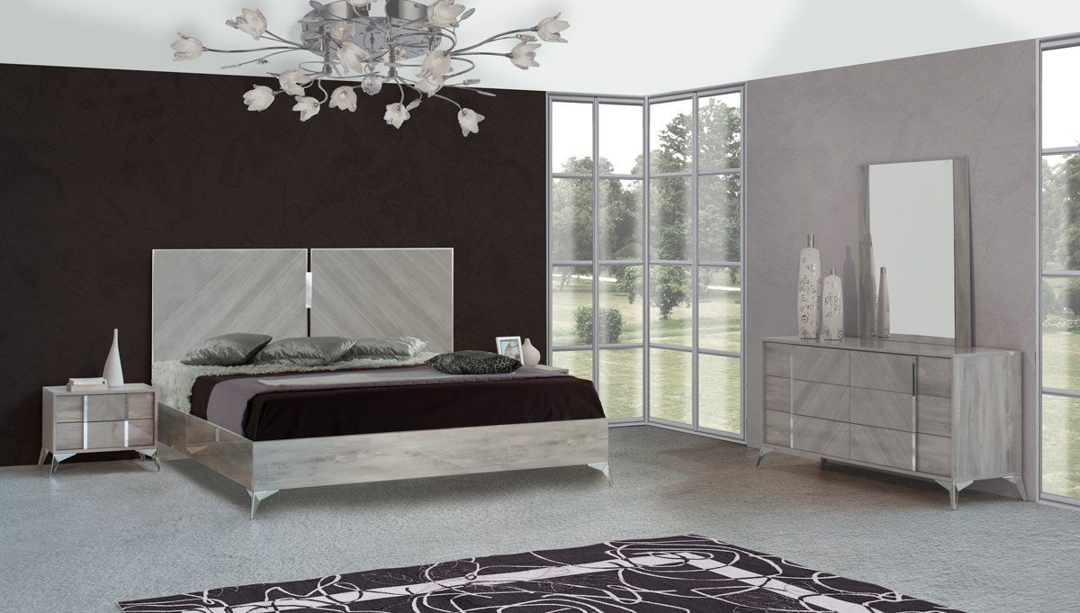 Vig Furniture VGACALEXA-SET Nova Domus Alexa Italian Modern Grey Bedroom  Set - Queen sale at Contemporary Furniture Warehouse. Today only.