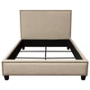 La Jolla Eastern King Bed with Nail Head Accent - Desert Sand Linen