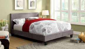Peraza Modern Cal-King Platform Bed In Grey Fabric