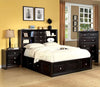 Hilburn Contemporary Leatherette Cal-King Bed In Espresso