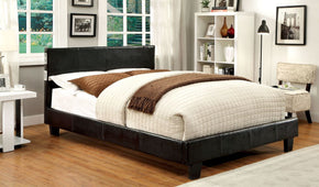 Troxell Contemporary Leatherette Bluetooth Cal-King Bed In Espresso