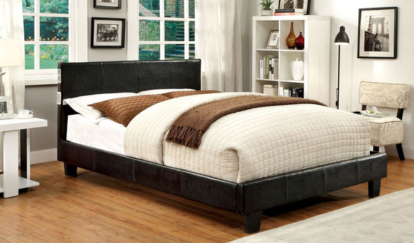 Troxell Contemporary Leatherette Bluetooth Queen Bed In Espresso