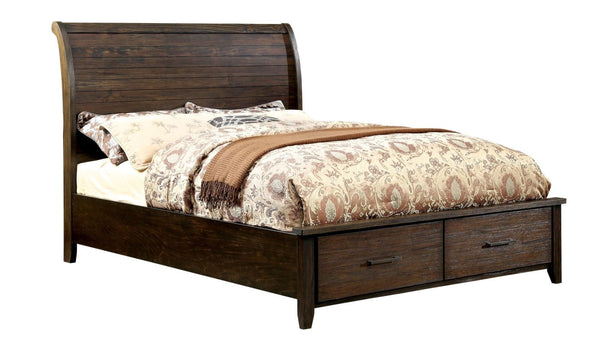 Tearson Transitional Plank-Style Queen Bed In Espresso