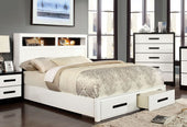 Bayu Modern Two-Tone Storage Full Bed In Black And White