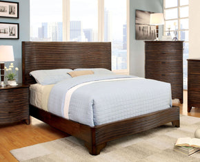 Lingel Modern Textured Queen Bed In Cognac