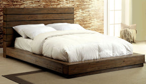 Banas Transitional Plank-Style Eastern-King Bed In Natural