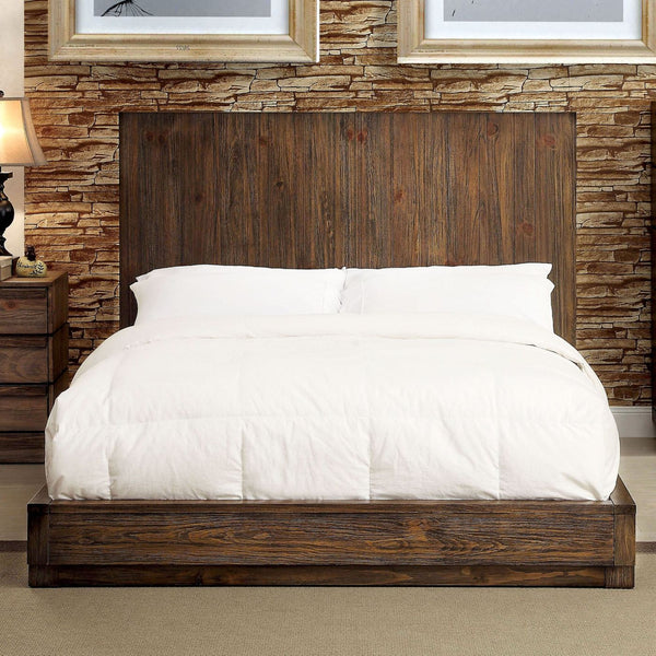 Ahearn Transitional Flat Panel Queen Bed In Natural