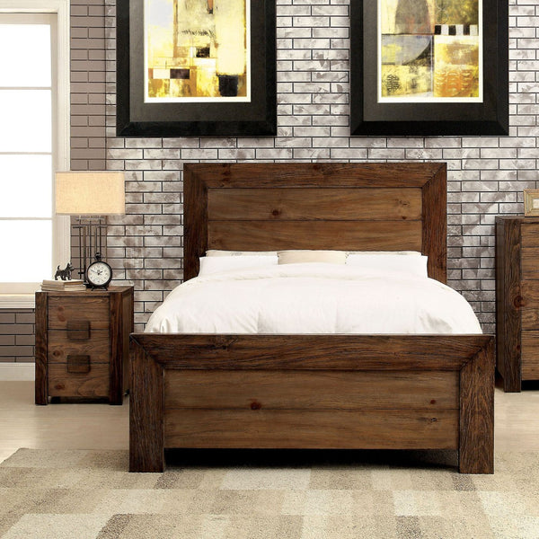 Braddy Transitional Queen Size Bed In Natural