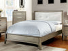 Yarber Contemporary Tufted Leatherette Cal-King Bed In Grey