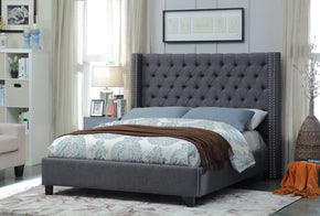 Meridian Ashton Grey Linen Queen Bed AshtonGrey-Q | 635963991500| $549.80. Beds - . Buy today at http://www.contemporaryfurniturewarehouse.com