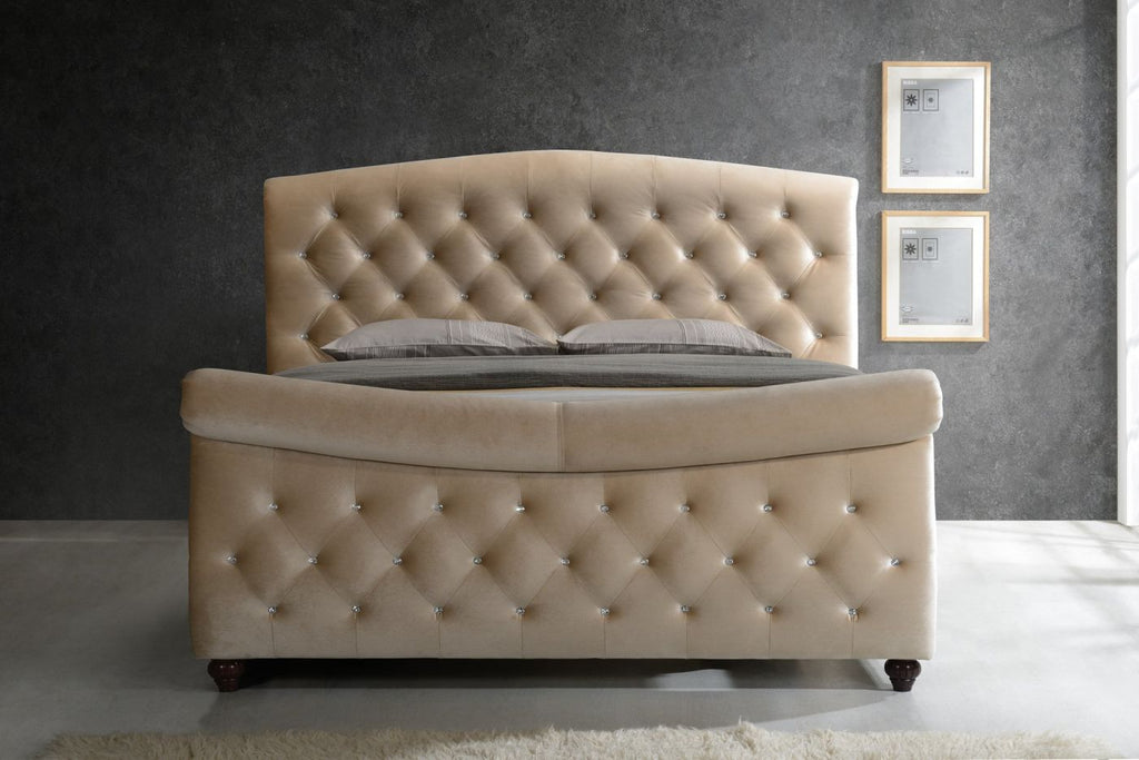 Diamond Queen Sleigh Bed