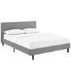 Anya Queen Bed Light Gray