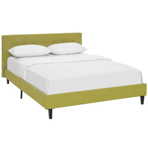 Linnea Queen Fabric Bed Wheatgrass