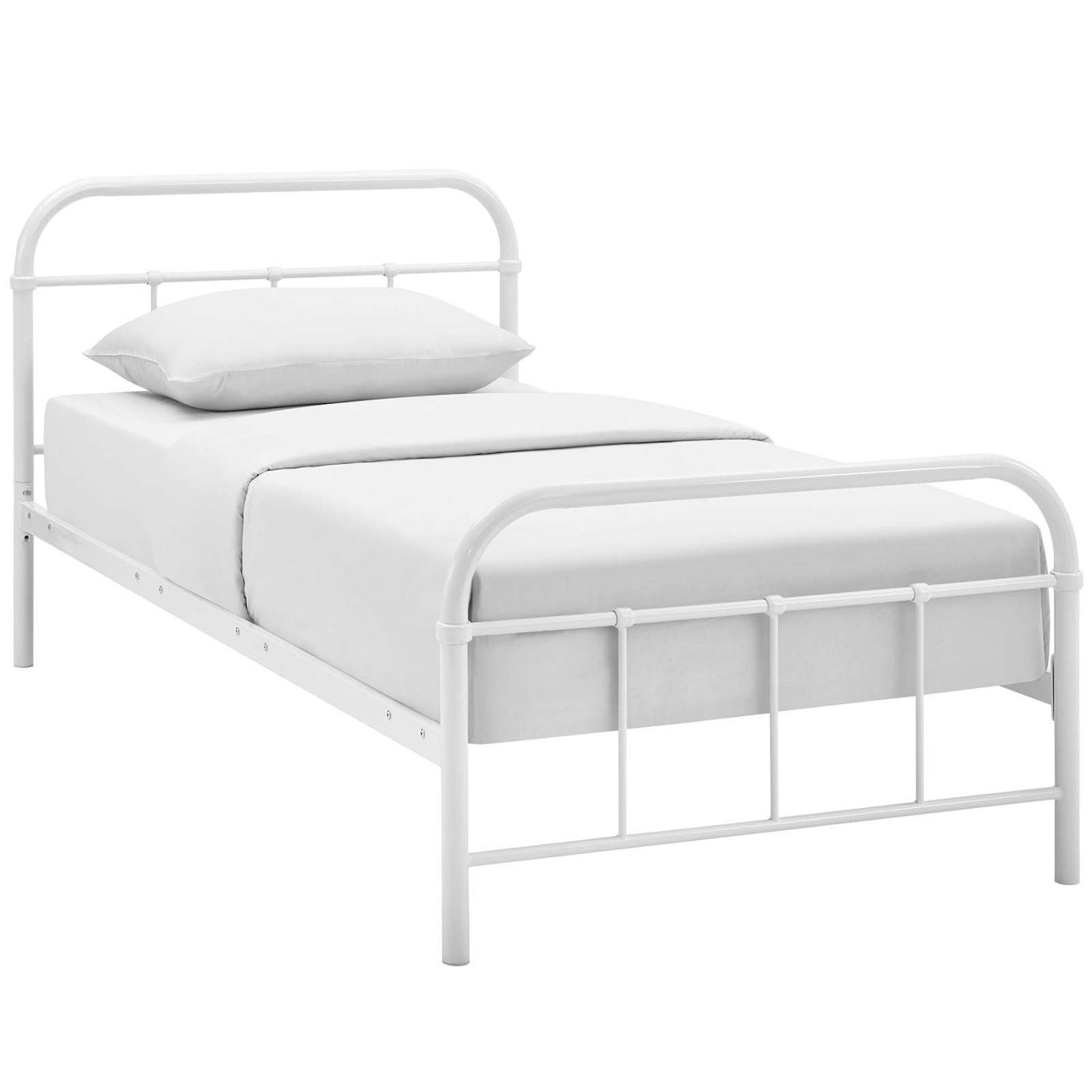 Modway MOD-5531-BRN-SET Maisie Twin Stainless Steel Bed Frame