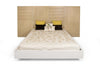 Beds - TemaHome 9500.756283 Dusk Bed - Queen Size W/Mattress Support Oak Headboard / High Gloss White Frame | 5603449756283 | Only $2522.00. Buy today at http://www.contemporaryfurniturewarehouse.com