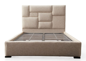 Connor Beige Bed In Queen