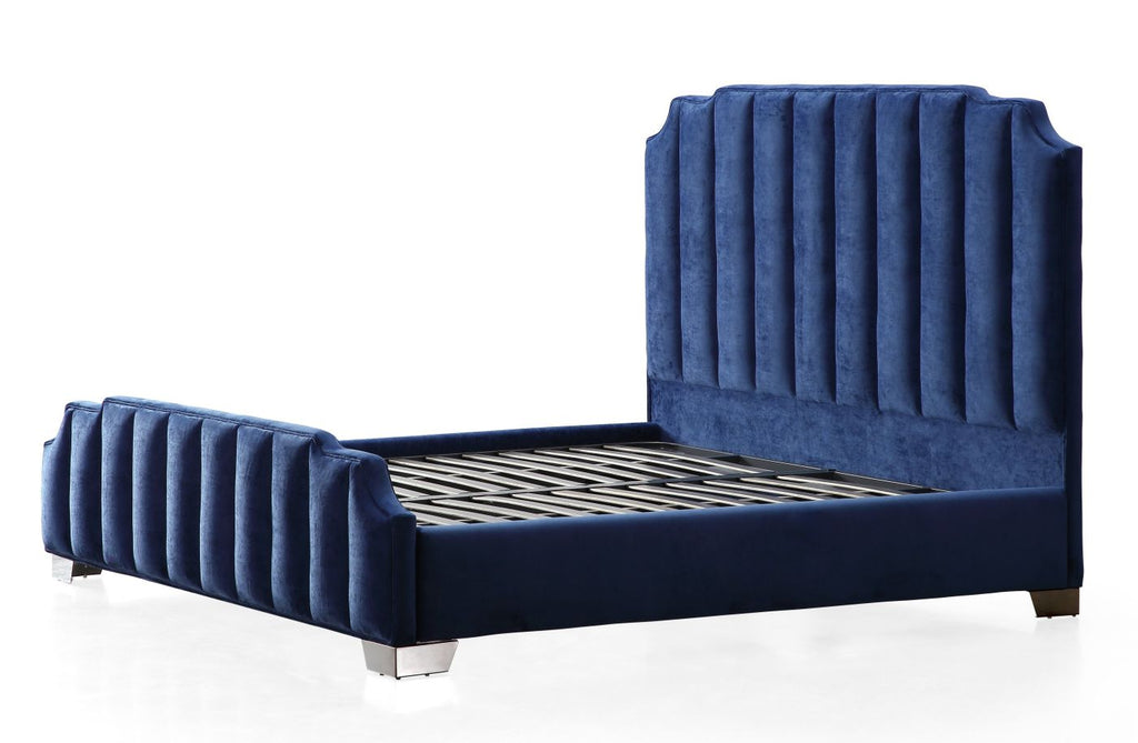 0e1a027701bc3 Amazing deal on Tov Furniture TOV-L6137 Natalie Navy Velvet Bed in King at  Contemporary Furniture Warehouse