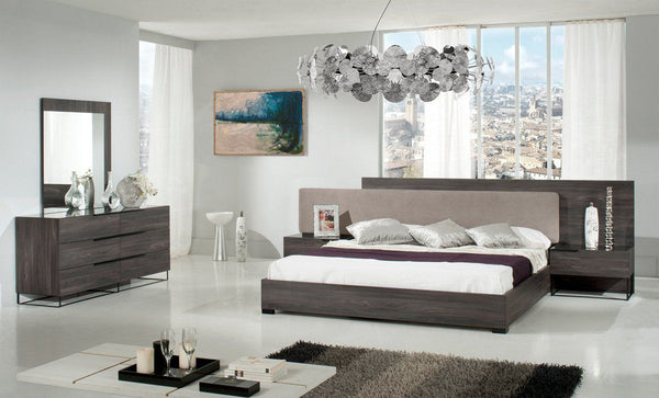 Vig Furniture VGACENZO-BED Nova Domus Enzo Italian Modern Grey Walnut &  Fabric Bed sale at Contemporary Furniture Warehouse. Today only.