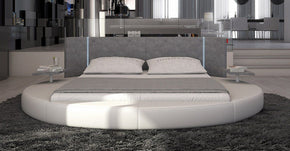 Beds - Vig Furniture VGINROTONDO Modrest Rotondo - Modern Round Eco-Leather Bed with LED Lights | Only $1564.80. Buy today at http://www.contemporaryfurniturewarehouse.com