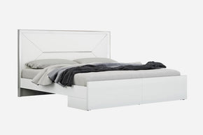Navi Bed King High Gloss White