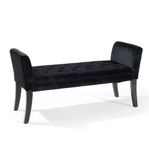 Benches - Armen Living LC0845BEBL Chatham Bench in Black Velvet | 700220756328 | Only $209.00. Buy today at http://www.contemporaryfurniturewarehouse.com