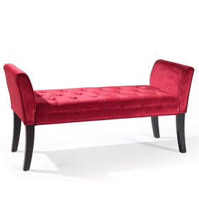 Benches - Armen Living LC0845BERE Chatham Bench in Red Velvet | 700220756298 | Only $209.00. Buy today at http://www.contemporaryfurniturewarehouse.com