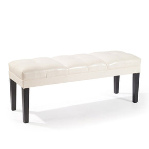 Benches - Armen Living LC47211BECR Howard Bench Cream Bonded Leather | 700220756267 | Only $139.00. Buy today at http://www.contemporaryfurniturewarehouse.com