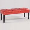 Benches - Armen Living LC47211BERE Howard Bench Red Bonded Leather | 700220756274 | Only $139.00. Buy today at http://www.contemporaryfurniturewarehouse.com
