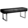 Benches - Armen Living LCAMBEBLBCH Amanda Black Bench | 700220755864 | Only $247.00. Buy today at http://www.contemporaryfurniturewarehouse.com