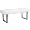 Benches - Armen Living LCAMBEWHBCH Amanda Contemporary White Bench | 700220755871 | Only $247.00. Buy today at http://www.contemporaryfurniturewarehouse.com