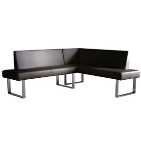 Amanda Contemporary Black Corner Sofa / Bench