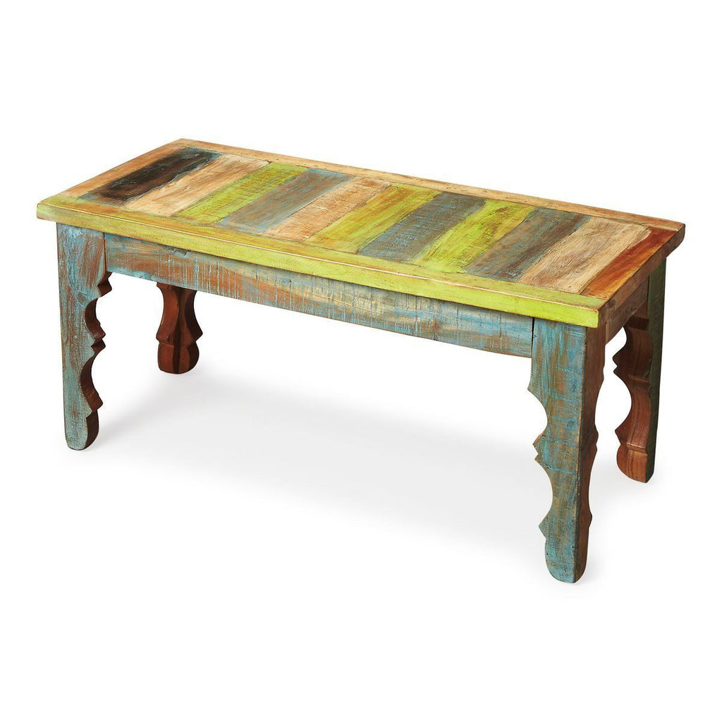 Benches - Butler Furniture BUT-1882290 Rao Traditional Rectangular Recycled Wood Bench | 797379017769 | Only $289.00. Buy today at http://www.contemporaryfurniturewarehouse.com