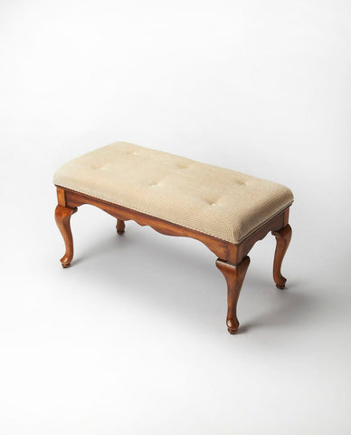 Grace Traditional Rectangular Bench Medium Brown
