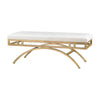 Miracle Mile Bench Gold & Oyster White