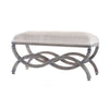 Double Arc Bench Heritage Grey Stain White Wash
