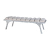 Lawrence Split Leg Bench Restoration Grey