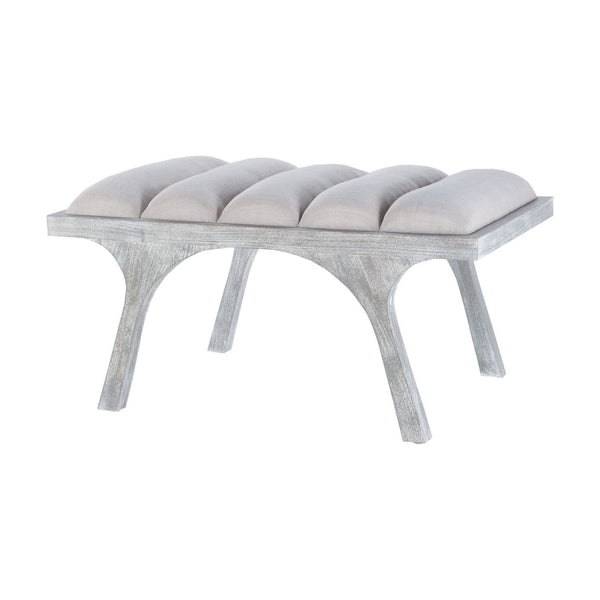 Little Lawrence Split Leg Bench Restoration Grey
