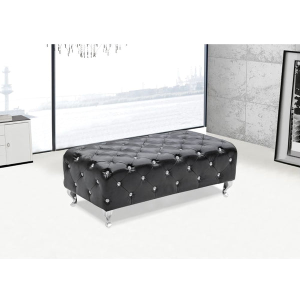 Tufted Bench Black