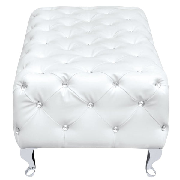 Tufted Bench White