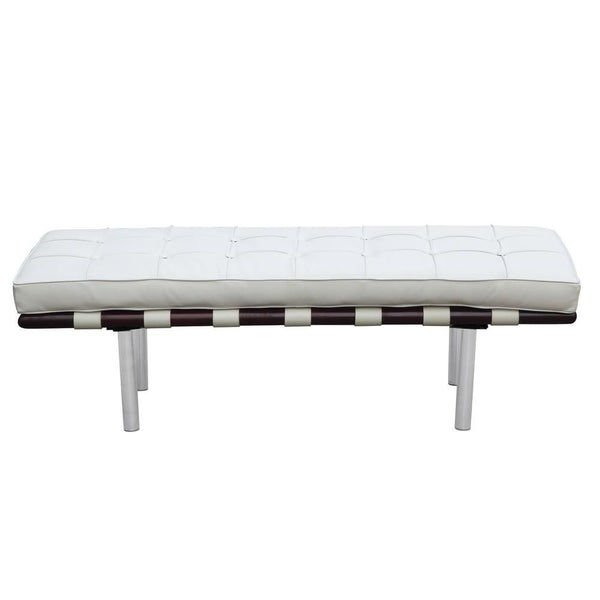 Pavilion Bench 2 Seater White