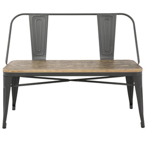 Benches - Lumisource BC-OR GY+BN Oregon Industrial Bench Grey, Brown | 681144427665 | Only $179.80. Buy today at http://www.contemporaryfurniturewarehouse.com