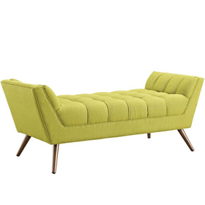 Response Medium Upholstered Fabric Bench Wheatgrass