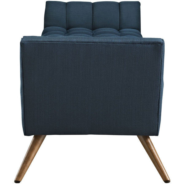 Benches - Modway EEI-1790-AZU Response Upholstered Fabric Bench | 889654018414 | Only $359.80. Buy today at http://www.contemporaryfurniturewarehouse.com