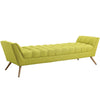 Benches - Modway EEI-1790-WHE Response Upholstered Fabric Bench | 889654018476 | Only $332.75. Buy today at http://www.contemporaryfurniturewarehouse.com