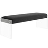 Benches - Modway EEI-2461-BLK Roam Velvet Chic Modern Bench Clear Acrylic | 889654095972 | Only $220.05. Buy today at http://www.contemporaryfurniturewarehouse.com
