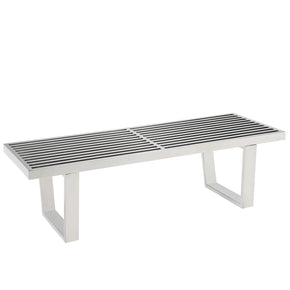 Sauna 4' Stainless Steel Bench Silver